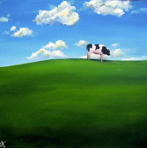 Wall Art - Painting - Happy Cow by Cari Humphry