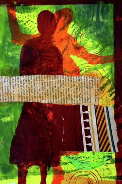 Wall Art - Mixed Media - Happy Dance by Nancy Merkle
