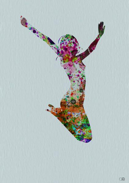 Beautiful Woman Wall Art - Painting - Happy Dance by Naxart Studio