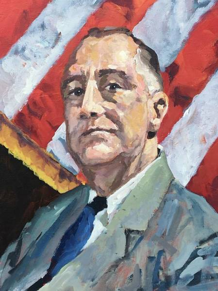 Fdr Painting - Happy Days Are Here Again by Susan Elizabeth Jones