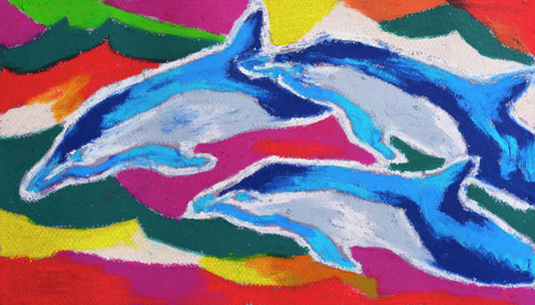 Wall Art - Painting - Happy Dolphin Dance by Stephen Anderson