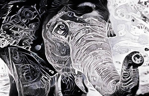 Mixed Media - Happy Elephant by Susan Maxwell Schmidt