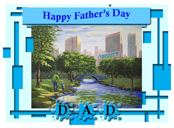 My Son Painting - Happy Father's Day Dad  by Saeed Hojjati