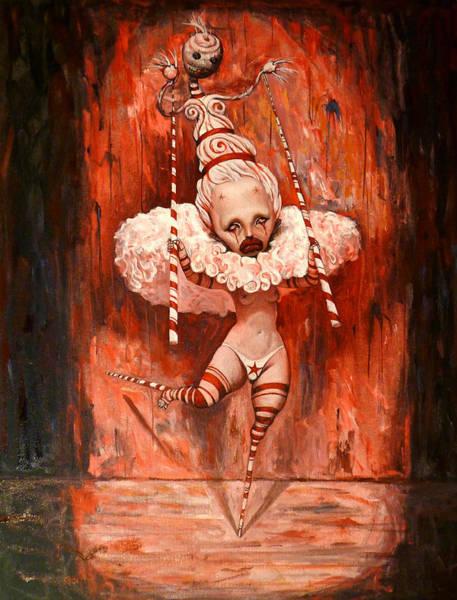 Circus Clown Painting - Happy Feet by Adrian Borda