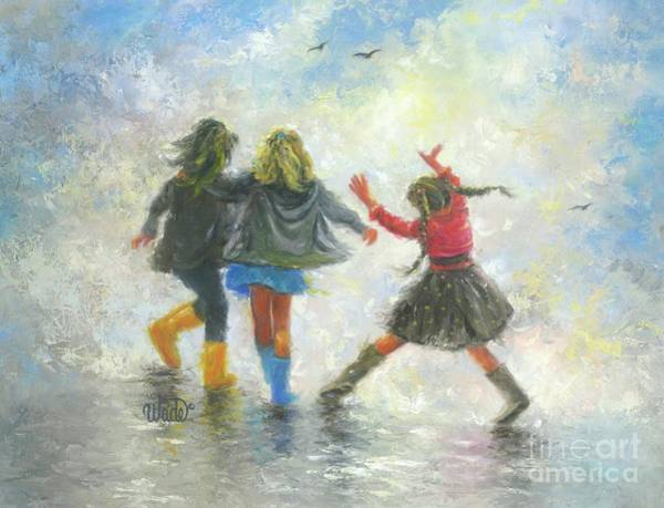 Skipping Painting - Happy Feet by Vickie Wade