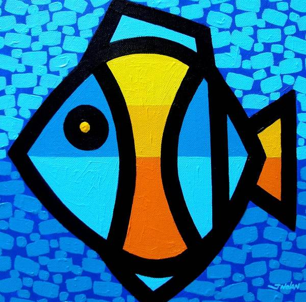 Yule Painting - Happy Fish by John  Nolan