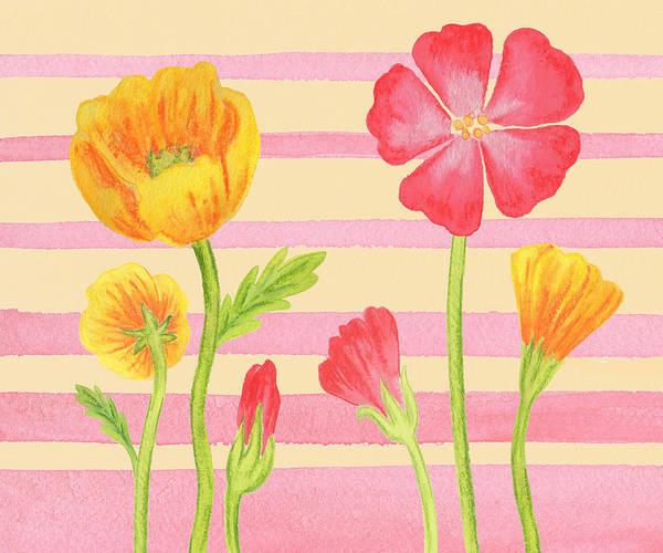Painting - Happy Flower Bed by Irina Sztukowski