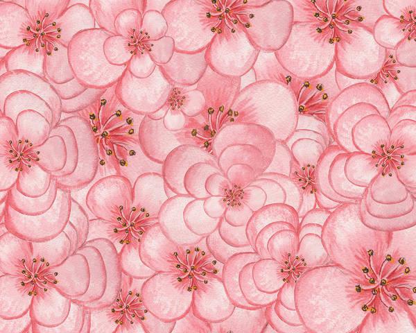 Painting - Happy Flower Cloud In Pink by Irina Sztukowski