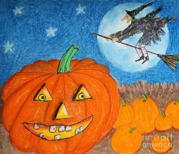 Drawing - Happy Halloween Boo You by Karen Adams