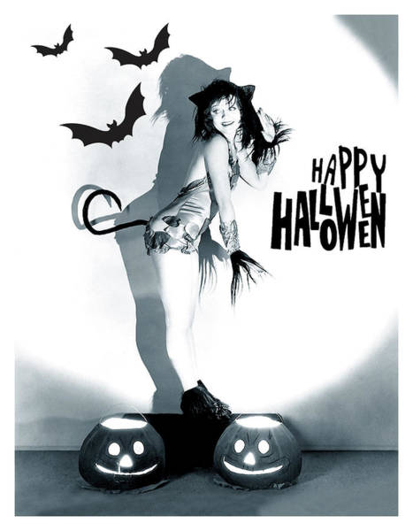 Wall Art - Photograph - Happy Halloween From Sexy Pin Up by Long Shot