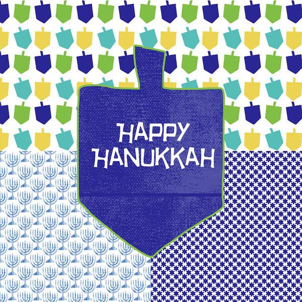 Miracle Painting - Happy Hanukkah Dreidel 2- Art By Linda Woods by Linda Woods