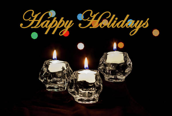 Photograph - Happy Holiday Candles by Ed Clark