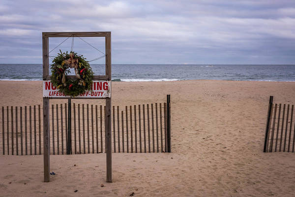 Photograph - Happy Holidays Beach Asbury Park Nj by Terry DeLuco