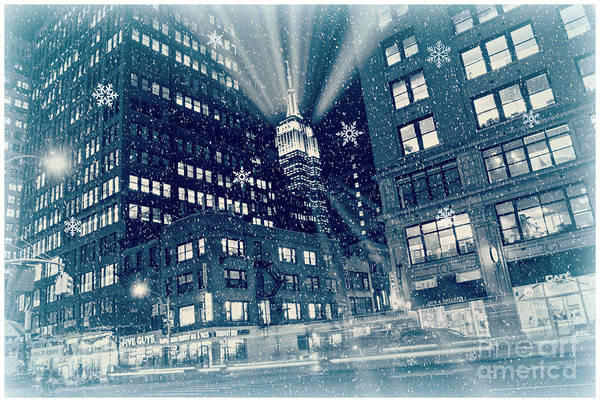 Photograph - Happy Holidays From New York City by Rima Biswas