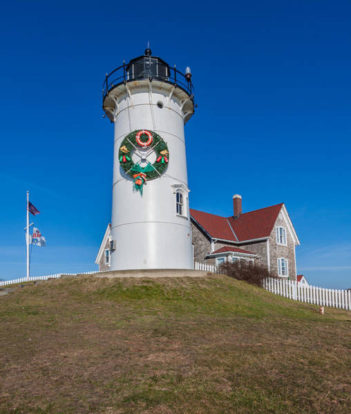 Photograph - Happy Holidays From Nobska Point Lighthouse by Brian MacLean