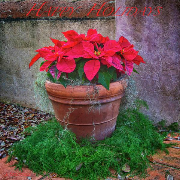 Carol Singing Photograph - Happy Holidays Card by Jennifer Stackpole