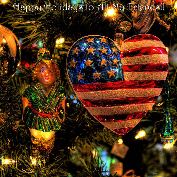 Photograph - Happy Holidays To All My Faa Friends by David Patterson