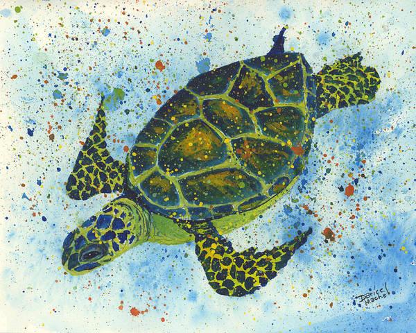Painting - Happy Honu by Darice Machel McGuire