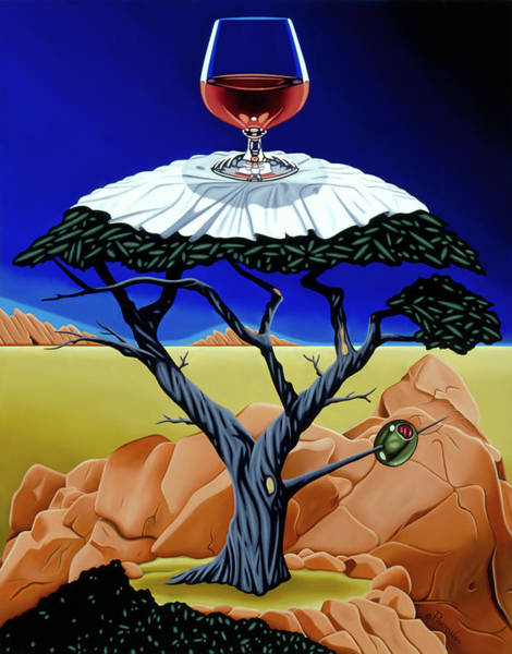 Painting - Happy Hour At The Midreal Cypress by Paxton Mobley
