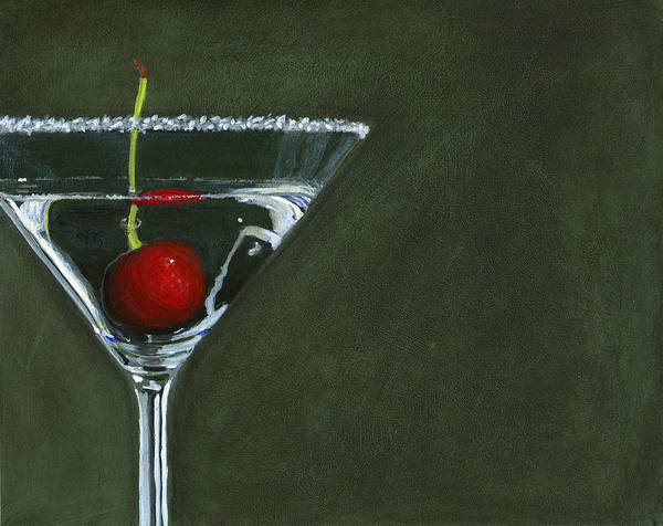 Martini Glasses Painting - Happy Hour by Karyn Robinson