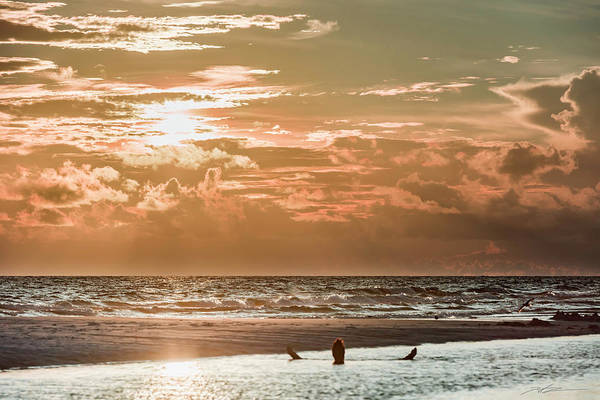 Happy Hour Sunset On The Beach Art Print