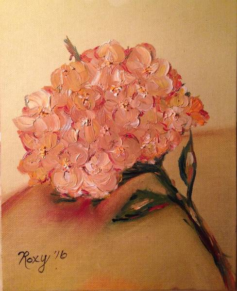 Wine Painting - Happy Hydrangea  by Roxy Rich