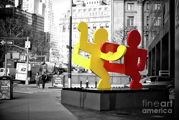 Photograph - Happy In New York City by John Rizzuto