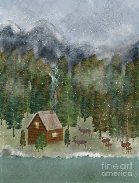 Wall Art - Painting - Happy In The Wilderness by Bri Buckley