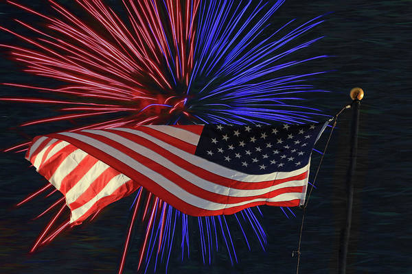 Fourth Of July Photograph - Happy Independence Day by Donna Kennedy