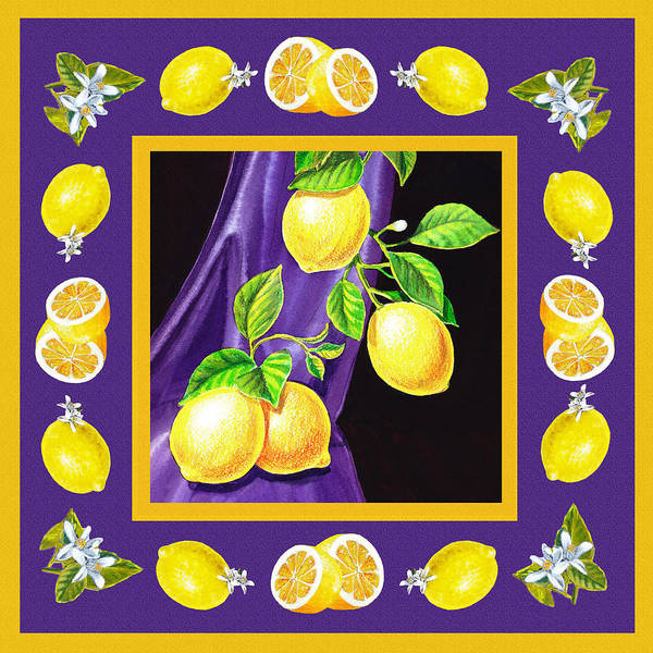 Wall Art - Painting - Happy Lemons Dancing by Irina Sztukowski