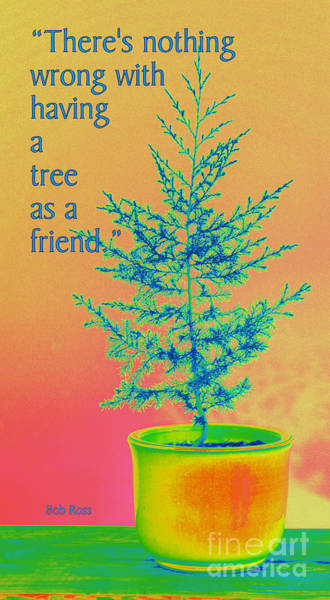 Ross Digital Art - Happy Little Trees by David Hinds