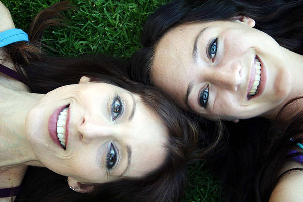 Daughter Photograph - Happy Mom And Daughter by Linda Woods