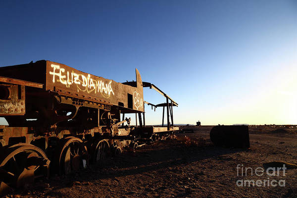 Photograph - Happy Mothers Day Uyuni Train Graveyard by James Brunker