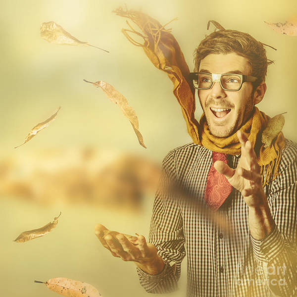 Photograph - Happy Nerd Celebrating The Fall Of Autumn by Jorgo Photography - Wall Art Gallery