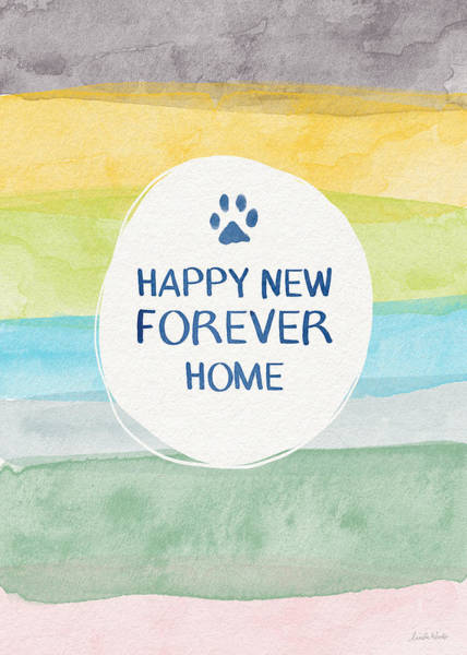 News Mixed Media - Happy New Forever Home- Art By Linda Woods by Linda Woods