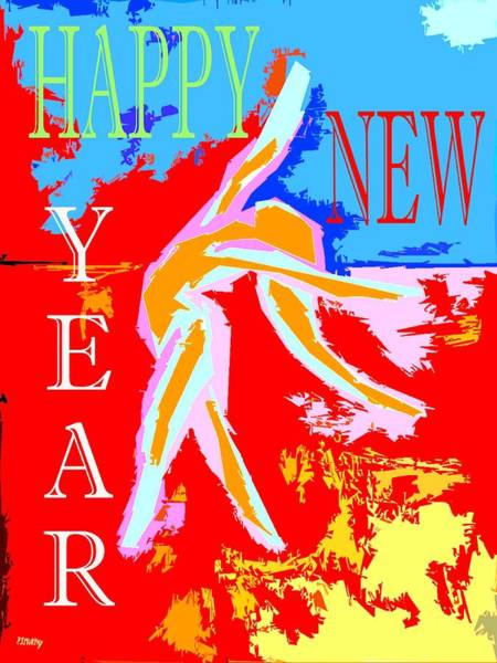 Irish Dance Painting - Happy New Year  by Patrick J Murphy