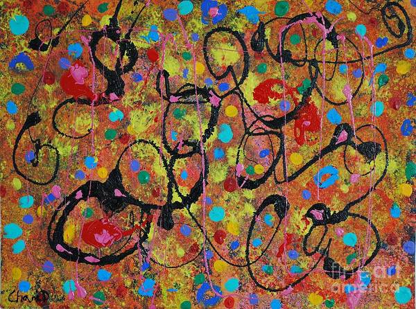 Pink Champagne Painting - Happy New Year by Chani Demuijlder