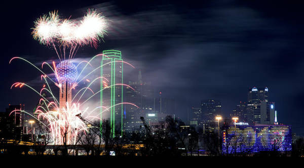 Photograph - Happy New Year Dallas 2017 V2 by Rospotte Photography