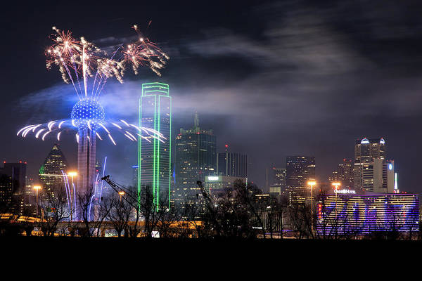 Photograph - Happy New Year Dallas 2017 by Rospotte Photography