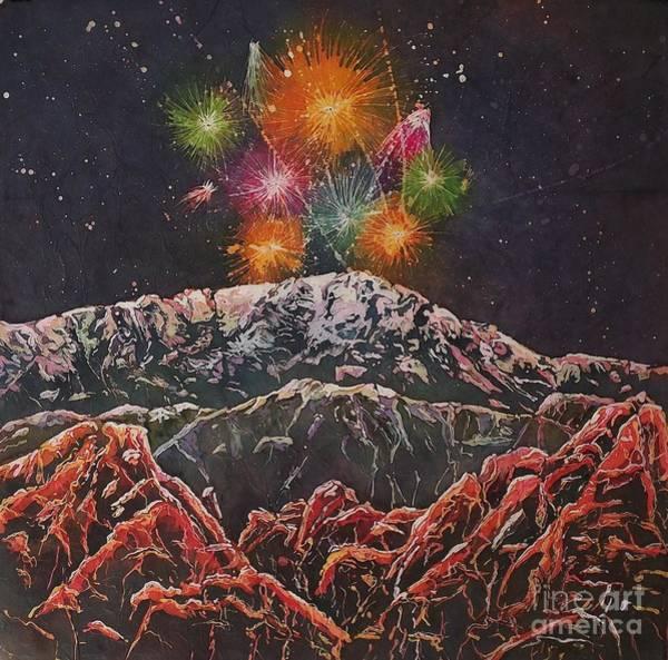 Mixed Media - Happy New Year From America's Mountain by Carol Losinski Naylor