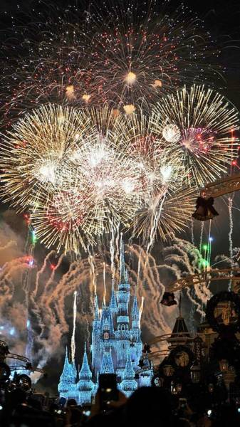 Digital Art - Happy New Year From Walt Disney World by Barkley Simpson