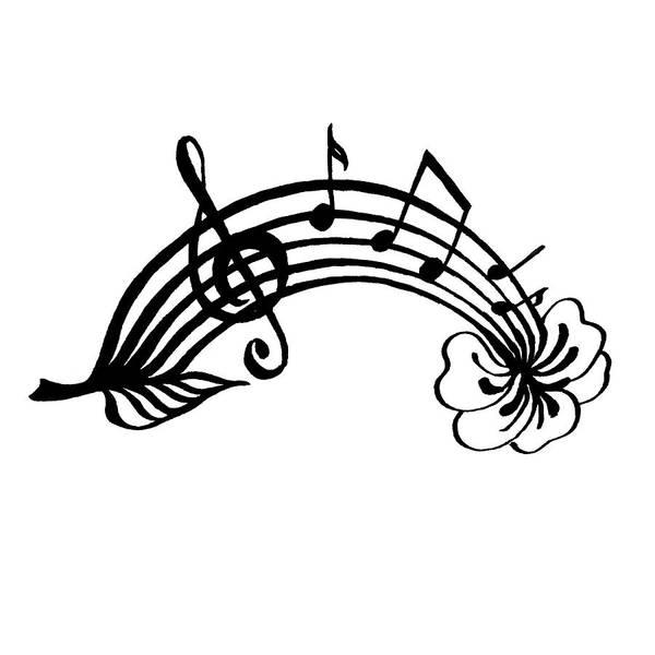 Note Book Painting - Happy Notes And Fun Music I by Irina Sztukowski