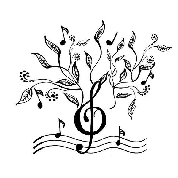 Note Book Painting - Happy Notes And Fun Music Vi by Irina Sztukowski
