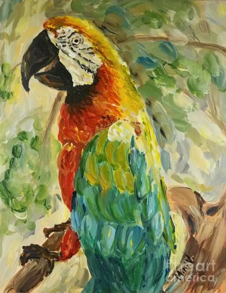 Painting - Happy Parrot by Maria Langgle
