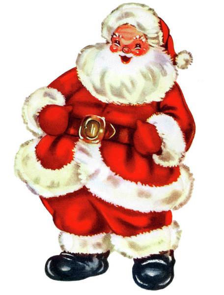 Santa Mixed Media - Happy Santa Claus by Long Shot
