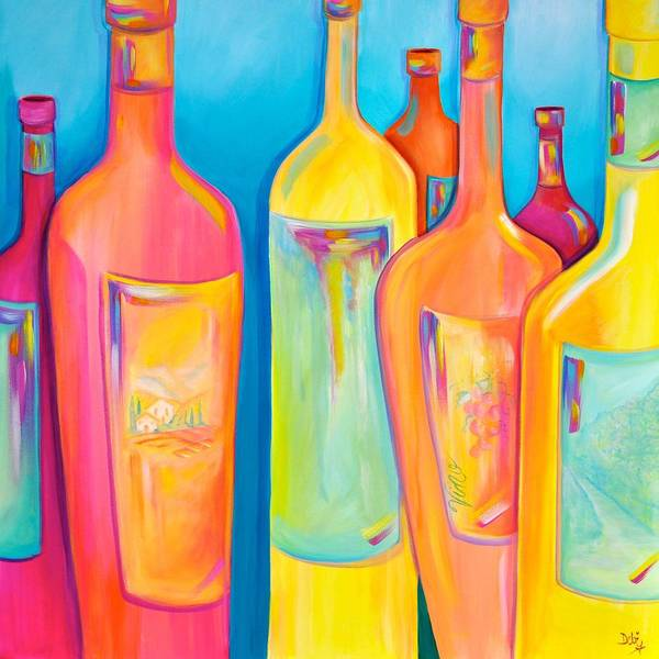Wall Art - Painting - Happy Shiny Hour by Debi Starr