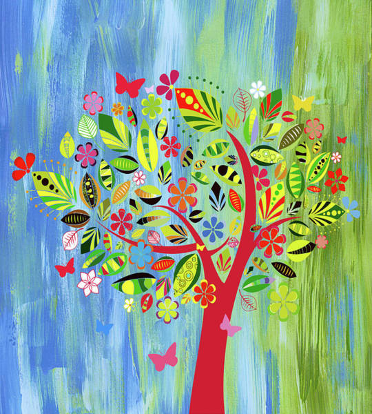 Mixed Media - Happy Spring Dance Whimsy by Isabella Howard