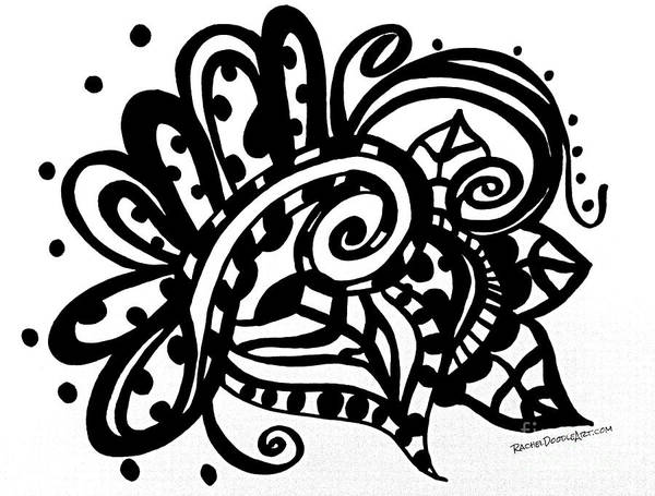 Drawing - Happy Swirl Doodle by Rachel Maynard