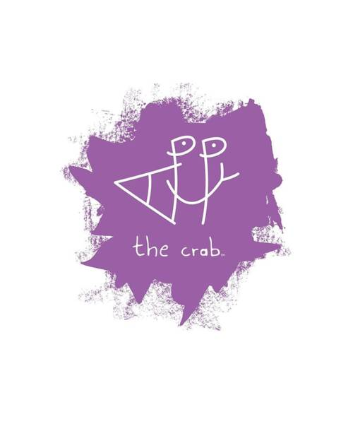 Wall Art - Mixed Media - Happy The Crab - Purple by Chris N Rohrbach