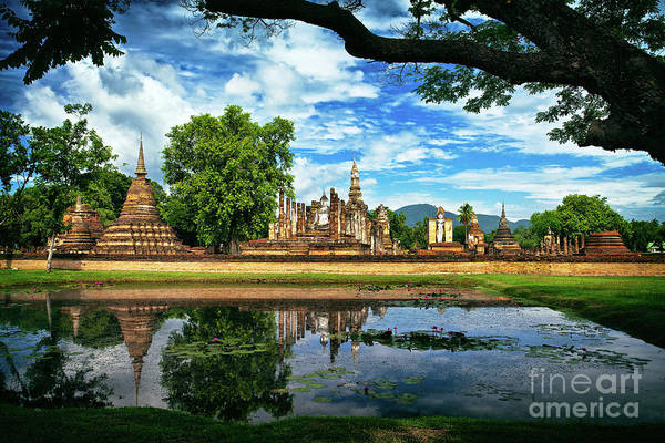 Photograph - Happy Thoughts At Wat Mahathat In Sukhothai, Thailand, Southeast Asia by Sam Antonio Photography